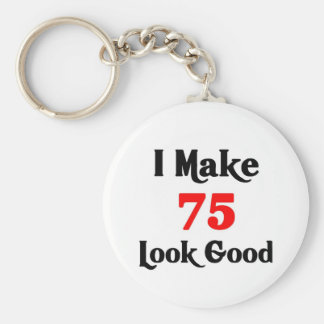 I make 75 look Good Basic Round Button Key Ring