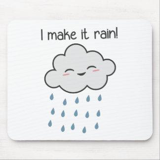 I Make It Rain Cute Storm Cloud Mouse Pad