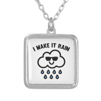 I Make It Rain Silver Plated Necklace