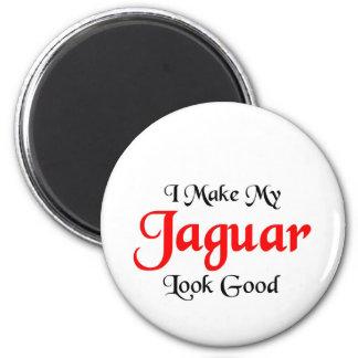 I make my Jaguar look good 6 Cm Round Magnet