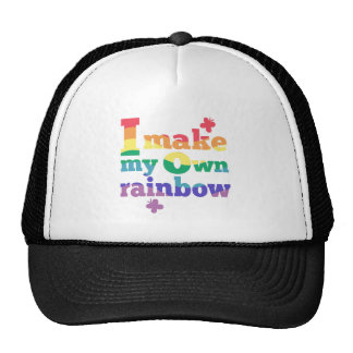 """""""I make my own rainbow"""" colorful message Cap"""