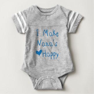 I Make Nana's Heart Happy Baby Football Bodysuit
