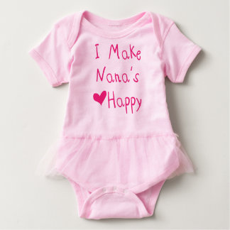 I Make Nana's Heart Happy Baby Tutu Bodysuit
