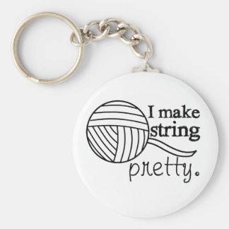 I Make String Pretty • Crafts Yarn Basic Round Button Key Ring