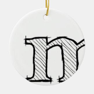 'i' : man (Karl Lentz) Ceramic Ornament