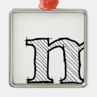 'i' : man (Karl Lentz) Metal Ornament