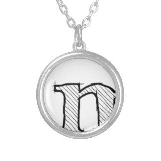 'i' : man (Karl Lentz) Silver Plated Necklace