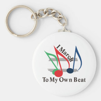I March to My Own Beat Basic Round Button Key Ring