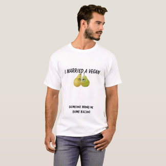 I married a vegan. Funny T-shirt Gift for Newlywed