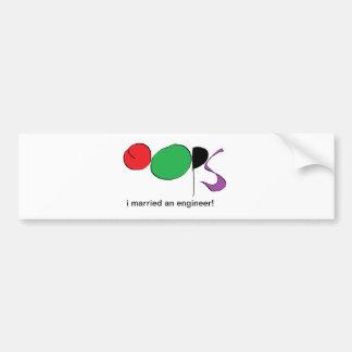 i married an engineer bumper sticker