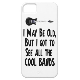 I may be old, cool bands! barely there iPhone 5 case