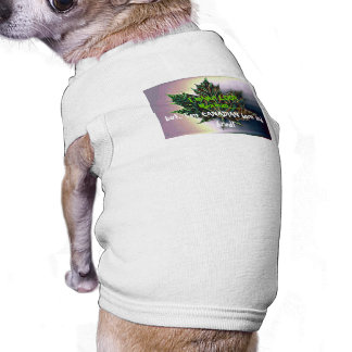 I may LOOK Mexican, but I'm Canadian-Maple Leaf Sleeveless Dog Shirt