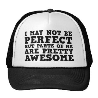 I May Not Be Perfect But Parts Of Me Are Pretty Aw Trucker Hat
