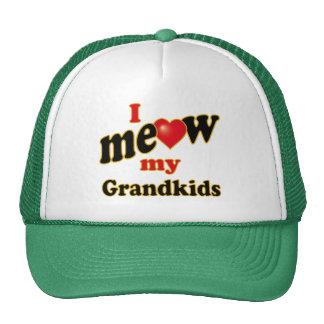 I Meow My Grandkids Mesh Hats