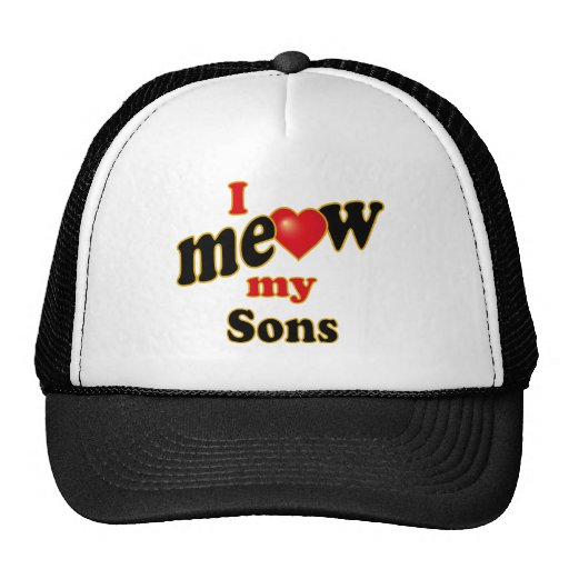 I Meow My Sons Mesh Hat