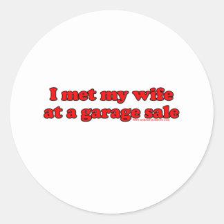 I Met My Wife At A Garage Sale Round Sticker