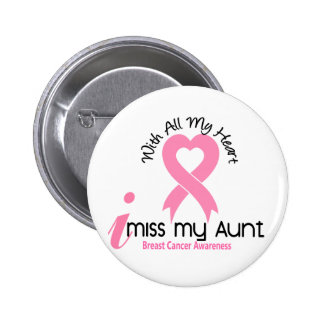 I Miss My Aunt Breast Cancer 6 Cm Round Badge