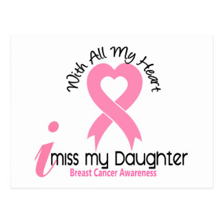 I Miss My Daughter Breast Cancer Postcard