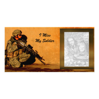 I Miss My Soldier Custom Military Picture Card