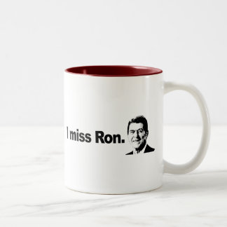 I MISS RON 2 Two-Tone COFFEE MUG