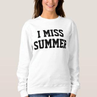 I Miss Summer Ladies Sweater
