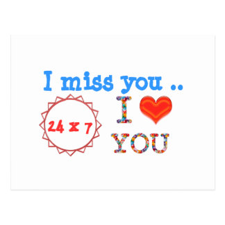 I miss YOU - A gift of expression n impact of love Postcard