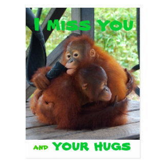 I Miss You and Your Hugs Postcard