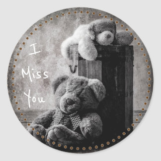 I Miss You Classic Round Sticker