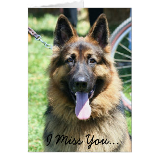 I Miss You Germans Shepherd Greeting Card
