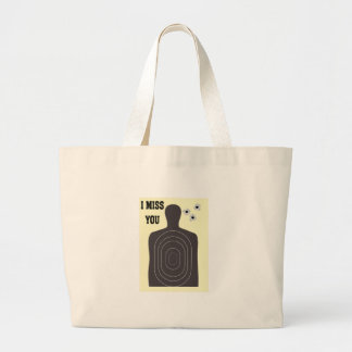 I MISS YOU LARGE TOTE BAG