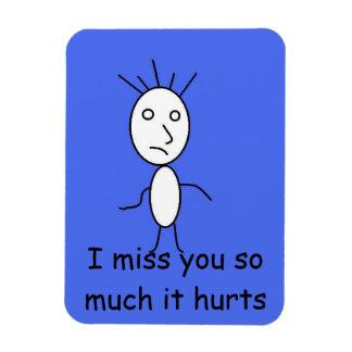 'I miss you' magnet