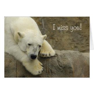 I miss you - Polar Bear Greeting Card