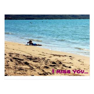 I miss you... postcard