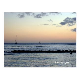 i miss you ... postcard