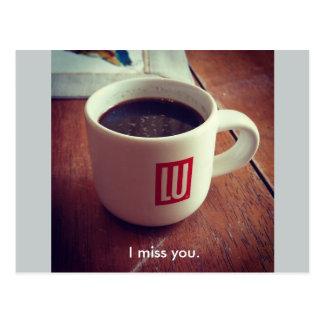 I miss you. postcard