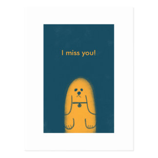 I miss you post cards