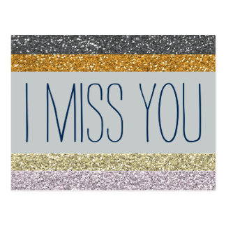 I Miss You Postcard
