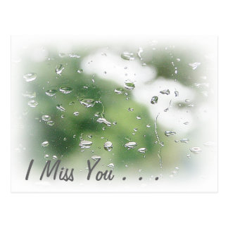 I miss you Postcard