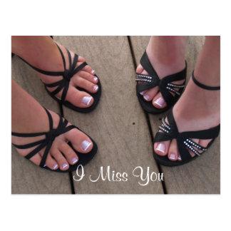 I Miss You Shoes Postcard