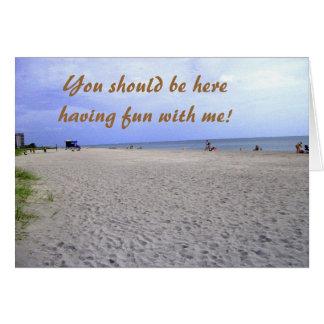 I Miss You Siesta Keys Greeting Card