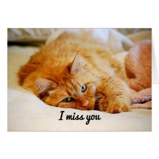 I Miss You, Sweet Orange Maine Coon Cat Card