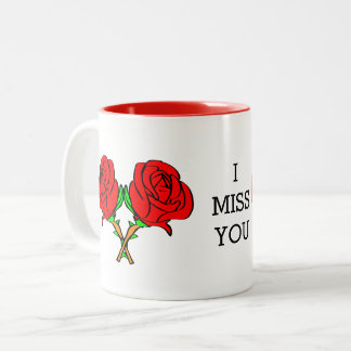i miss you Two-Tone coffee mug