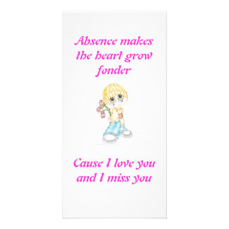 I miss your love photo card template