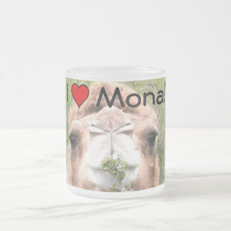 I ♥ Mona! Frosted Glass Coffee Mug