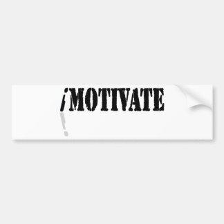 I Motivate Bumper Stickers
