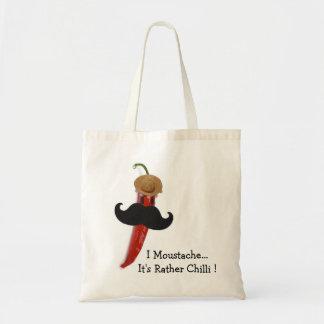 I Moustache.. It's Rather Chilli Budget Tote Bag