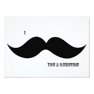 I Moustache You A Question - Invitation 13 Cm X 18 Cm Invitation Card