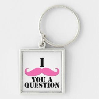 I Moustache You A Question Pink Moustache Key Chain