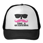 I Moustache You A Question Pink with Sunglasses Cap