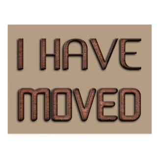I Moved New Address Funny Stone Bricks Typography Postcard